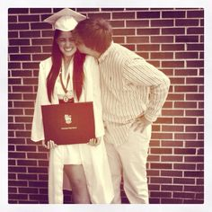 Graduation pictures with my boyfriend