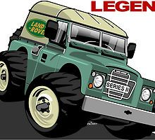 Land Rover Series ii caricature by car2oonz