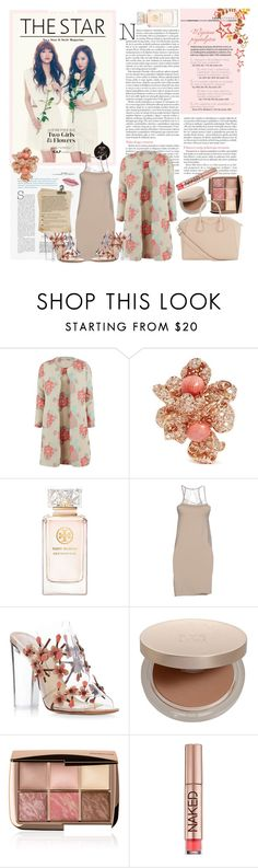 """Nude Flower"" by jelenalela ❤ liked on Polyvore featuring Gina Bacconi, Anabela Chan, Tory Burch, SELECTED, Paul Andrew, Eve Lom, Hourglass Cosmetics, Urban Decay and Givenchy"