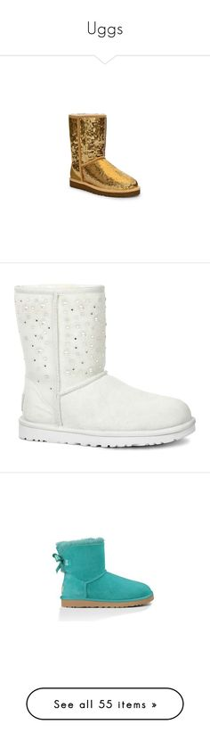 """""""Uggs"""" by fam0us-e ❤ liked on Polyvore featuring shoes, boots, grey, rubber sole shoes, ugg shoes, mini shoes, rubber sole boots, gray shoes, ankle booties and uggs"""
