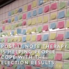 Post-It Note therapy? Love this idea.