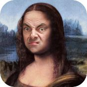 Funny Facial Expressions, Mona Lisa Parody, Funny Caricatures, Mr Bean, Face Swaps, British Comedy, Male Face, Personal Photo, Photo Library