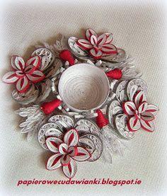 To co robię i co lubię: Quillingowy świecznik-ozdoby na Boże Narodzenie