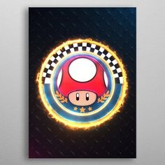 Mushroom Cup Emblem poster by from collection. By buying 1 Displate, you plant 1 tree. 10 Tree, Poster Prints, Art Prints, Mario Kart, Print Artist, Chicago Cubs Logo, Cool Artwork, Stuffed Mushrooms, 3d