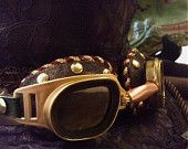 Steampunk Goggles. Unique design in brown, copper and brass - functional