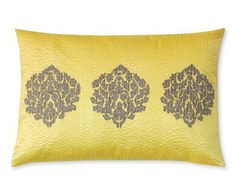 WSH♥ our pure silk Stitched Medallion Pillow Cover #WilliamsSonoma