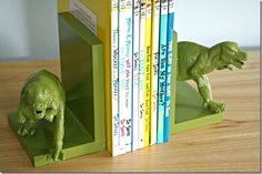 book ends again - details on how she did it. DIY