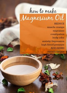 How To Make Magnesium Oil. Very interesting! Use milk of magnesia for a deodorant. Magnesium deficiency and liver congestion are the #1 cause of body odor!