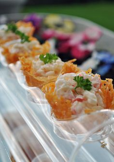 Parmesan Cups for Simple Canapes