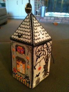 Haunted house needlework box  view 2 Just Nan Scream House