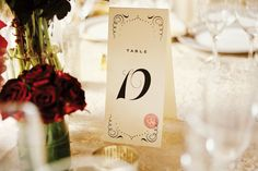 Are deco table numbers