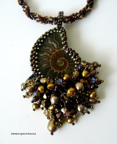 bead embroidery ammonite