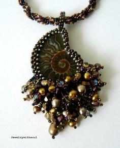 bead embroidery ammonite