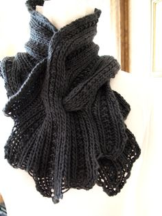 Sprigs PDF Hand Knitting Scarf Pattern