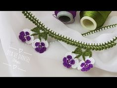 Crochet Lace Edging, Crochet Borders, Techniques Couture, Creative Embroidery, Crewel Embroidery, Crochet Videos, Lace Design, Baby Knitting Patterns, Diy And Crafts