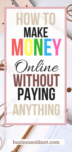 How to Make Money Online Without Paying Anything is not impossible, you can find a gap. In fact, there are quite a lot of money sources Earn Money From Home, Way To Make Money, Make Money Online, How To Make, How To Earn Money, Online Earning, Marketing Program, Marketing Jobs, Affiliate Marketing