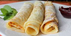 Norwegian Pancakes 6 Servings  Ingredients     3 eggs   1 1/2 cups milk   1 cup all-purpose flour   1/4 teaspoon salt   1 teaspoon sugar    Directions     Combine the eggs and milk in the container of a blender. Add the flour, salt