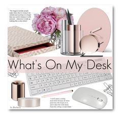 """What's On My Desk?"" by beebeely-look ❤ liked on Polyvore featuring interior, interiors, interior design, home, home decor, interior decorating, Home Decorators Collection, Diane James, Lenovo and HAY"
