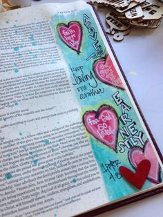 Bible journaling - love the background color