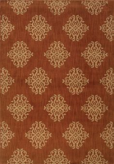 Oriental Weavers Kasbah Collection 3835b Casual Orange Rug