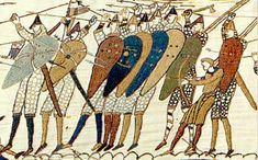Pin – The Bayeux Tapestry. Questions to consider: Is the Bayeux Tapestry really a tapestry? What historical event does it chronicle? Bayeux Tapestry, Medieval Tapestry, Medieval World, Medieval Art, William The Conqueror, Book Of Kells, Weaving Textiles, Anglo Saxon, Art For Art Sake