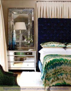 decoração azul e verde