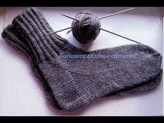 Slippers for Men or Women - YouTube    How to knit socks for beginners Василиса Жолтикова вязание спицами - YouTube - YouTube