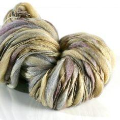 Nymph HANDSPUN tufts yarn BFL/Silk undyed by fiberstory on Etsy, $36.50