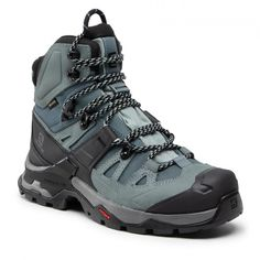 Παπούτσια πεζοπορίας SALOMON - Quest 4 Gtx W GORE-TEX 413870 Slate/Trooper/opal Blue - Μποτάκια πεζοπορίας και μποτάκια ορειβασίας - Μπότες και άλλα - Γυναικεία   epapoutsia.gr