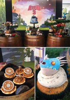 Amazing How to Train Your Dragon Birthday Party Dessert Table!!!