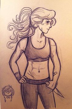 by andythelemon: I'm 120% done with rude people in this fandom whining to artists about their personal depictions of the characters - if I want to draw Annabeth with a muscular body type and scars and you don't dig, too bad. I don't care. She's cooler than you, anyway.