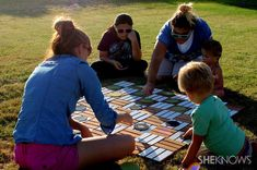 How to make a super-sized checkers game // I absolutely love this idea. How much fun would it be to have a giant checker board in the backyard... or turn it into a chess board!?