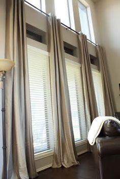 Hang drapes like this?