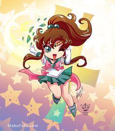 .:Chibi Super Sailor Jupiter:. by Mako-Fufu http://www.redbubble.com/people/makofufu/works/11319236-chibi-super-sailor-jupiter