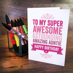 homemade birthday cards for aunt - Google Search