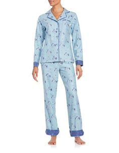 Disney By Munki Munki Lady and the Tramp Flannel Classic Pajama Set Wo Lady  And The 30278edd8