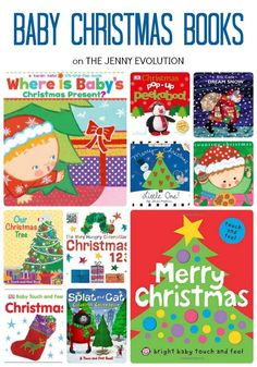 Wonderful readling list of Baby Christmas Books to share with your infant this holiday! on The Jenny Evolution