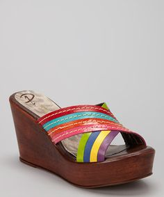 d1939c52b3ee Look at this  zulilyfind! Tutifruti Crisscross Leather Wedge Sandal by  Passarela Brazil  zulilyfinds