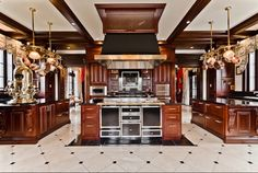 A kitchen from Celine's Dion house. She's sailing her castle near Montreal. o.O