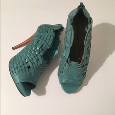 Turquoise Quilted Pumps by Michael Antonio Seasonal turquoise pump. Perfect for Spring/Summer. Wear with dress or skirt. Size 8. Worn twice. Box included if you wish. Small nick on heel shown in last picture. No trades. Michael Antonio Shoes Heels