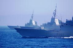 Armada Española - Dos fragatas F100. Spanish Navy.