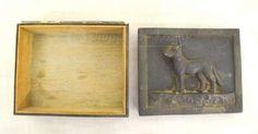 shopgoodwill.com: 014 - Vintage Metal Dog Trinket Box