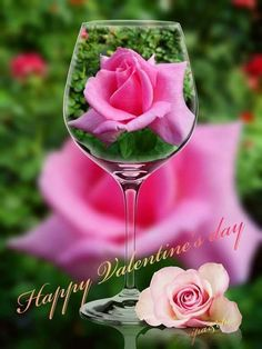 Alcoholic Drinks, Valentines, Wine, Table Decorations, Day, Glass, Home Decor, Crystals, Valentines Diy