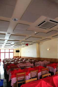 Vicoustic treated Restaurant space Acoustic, Restaurants, Construction, Rooms, Treats, Space, Building, Design, Home Decor
