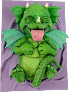Thanks to thatscakeable for sharing this cute, smiling baby dragon cake turns the corners of your mouth upwards, even a little. Camo Wedding Cakes, White Wedding Cakes, Easy Cake Decorating, Cake Decorating Tutorials, Decorating Ideas, Ghost Cake, Fondant, Viking Dragon, Dragon Cakes