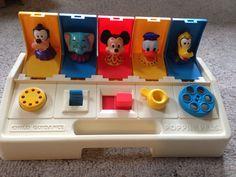 Disney Poppin Pals - Vintage 1980's Toy- Playskool via Etsy