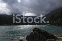Mountain Lake Obernberg royalty-free stock photo