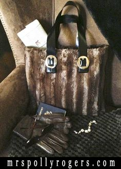 Click here to make a Two Seam Faux Fur Bag. EASY to make for yourself or as gifts! www.MrsPollyRogers.com
