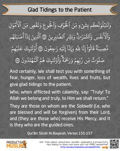 islamic-art-and-quotes:  Glad tidings to the patient