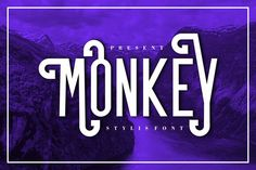 Monkey (Font) by Musafir LAB · Creative Fabrica Hand Lettering Fonts, Script Logo, Serif Font, Cursive Fonts, Retro Font, Vintage Fonts, The Good Old Days, Lowercase A, Funny Moments